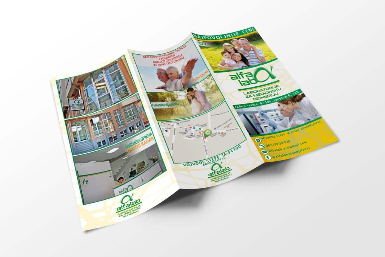 dizajn brošura i prospekata alfa lab brošura