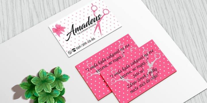 """Studio Amadeus"" vizit karte 2"