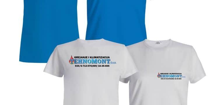 """Digitalna DTG štampa majice """"Tehnomont d.o.o."""""""